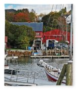 Holiday At Rockport Fleece Blanket