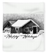 Holiday Barn Fleece Blanket