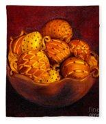 Holiday Citrus Bowl  Fleece Blanket