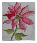 Holiday Flower Fleece Blanket