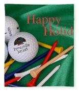Holiday Golf Fleece Blanket