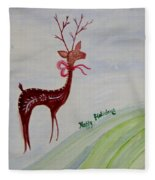 Holiday Greetings Fleece Blanket