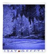 Holiday Greetings - Vail - Colorado Fleece Blanket