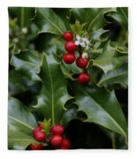 Holiday Holly Fleece Blanket