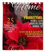 Holiday Home Magazine Cover Fleece Blanket