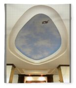 Holiday Inn Express Ceiling Dome Mural Fleece Blanket