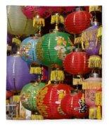 Chinese Holiday Lanterns Fleece Blanket