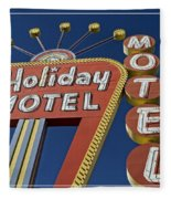 Holiday Motel Las Vegas Fleece Blanket