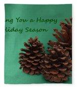 Holiday Pine Cones Fleece Blanket