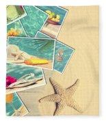Holiday Postcards Fleece Blanket