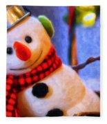 Holiday Snowman Fleece Blanket