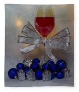 Holiday Wine Fleece Blanket