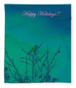 Holiday With Nature Fleece Blanket