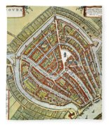Holland: Gouda Plan, 1649 Fleece Blanket