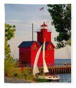 Holland Lighthouse Fleece Blanket