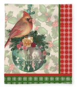 Holly And Berries-a Fleece Blanket