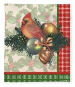 Holly And Berries-c Fleece Blanket