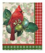 Holly And Berries-d Fleece Blanket
