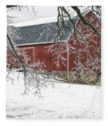 Holly Barn Fleece Blanket