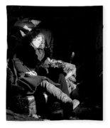 Holly In Chair 1980 Fleece Blanket