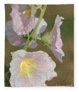 Hollyhock Named Indian Spring Pink Fleece Blanket