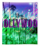 Hollywood Day And Night Fleece Blanket