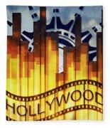 Hollywood Gold Fleece Blanket