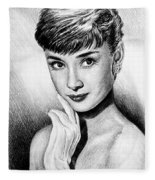 Hollywood Greats Hepburn Fleece Blanket