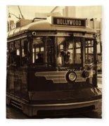 Hollywood Trolley Fleece Blanket