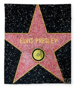 Hollywood Walk Of Fame Elvis Presley 5d28923 Fleece Blanket