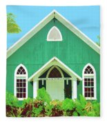 Holuoloa Church Fleece Blanket