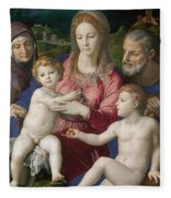 Holy Family With St. Anne And The Infant St. John Fleece Blanket