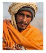 Holy Saffron Fleece Blanket