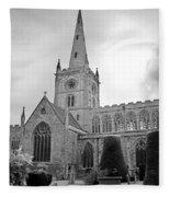 Holy Trinity Church Stratford Upon Avon Fleece Blanket