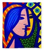 Homage To Pablo Picasso Fleece Blanket