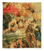 Homage To Rubens Fleece Blanket