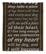 Homage To The Dogs In Our Lives Fleece Blanket