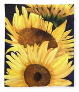 Homage To The Sun Fleece Blanket
