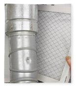 Home Air Filter Replacement Fleece Blanket