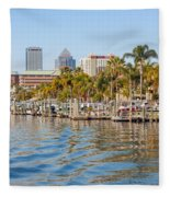 Home And Water And City Fleece Blanket