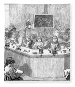 Home Economics Class, 1886 Fleece Blanket