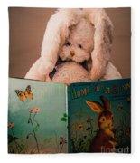 Home For A Bunny 1 Fleece Blanket
