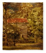 Home For Thanksgiving Fleece Blanket