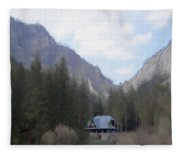 Home In The Mountains Fleece Blanket