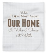 Home Is Where The Heart Is Fleece Blanket