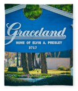 Home Of Elvis Fleece Blanket