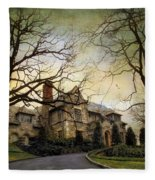 Home On A Hill Fleece Blanket