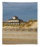 Home On The Beach Fleece Blanket
