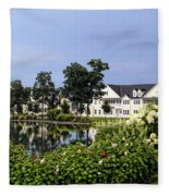 Home On The Golf Course Fleece Blanket