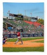 Home Run Or Struck Out Fleece Blanket
